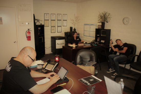 Aguayo Bail Bonds Family at work in Las Vegas, Nevada USA